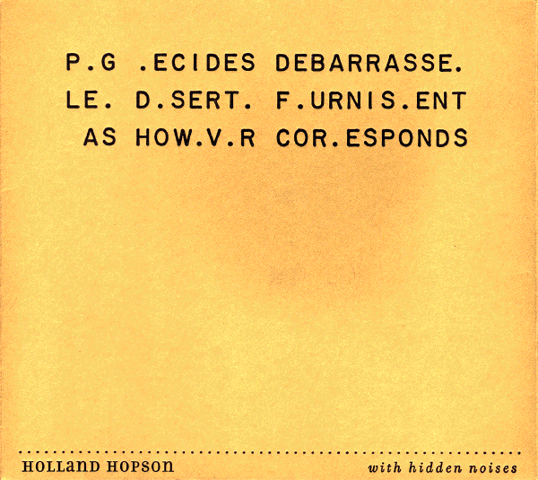 Holland Hopson With Hidden Noises CD cover